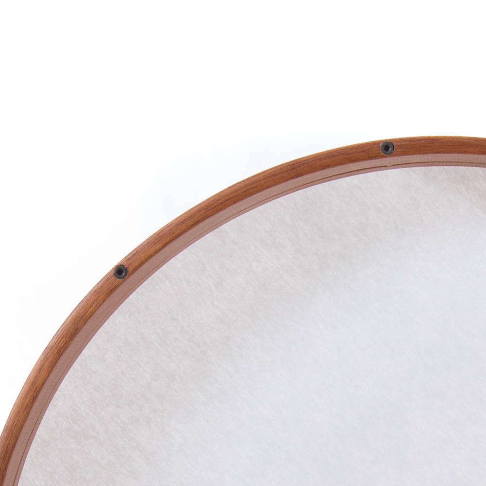 frame drum 20 mahogany in frame tuning synthetic fiber ethnic musical. Black Bedroom Furniture Sets. Home Design Ideas