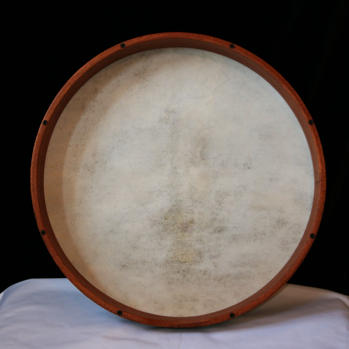 Turkish Bendir Frame drum - Goat skin 18inch - tunable, Mahogany wood