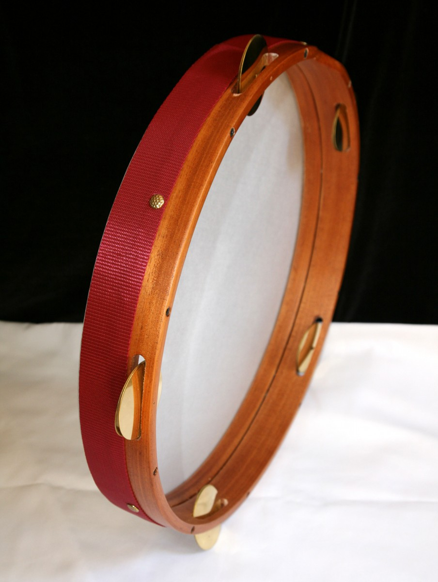 Turkish frame drum with cymbals