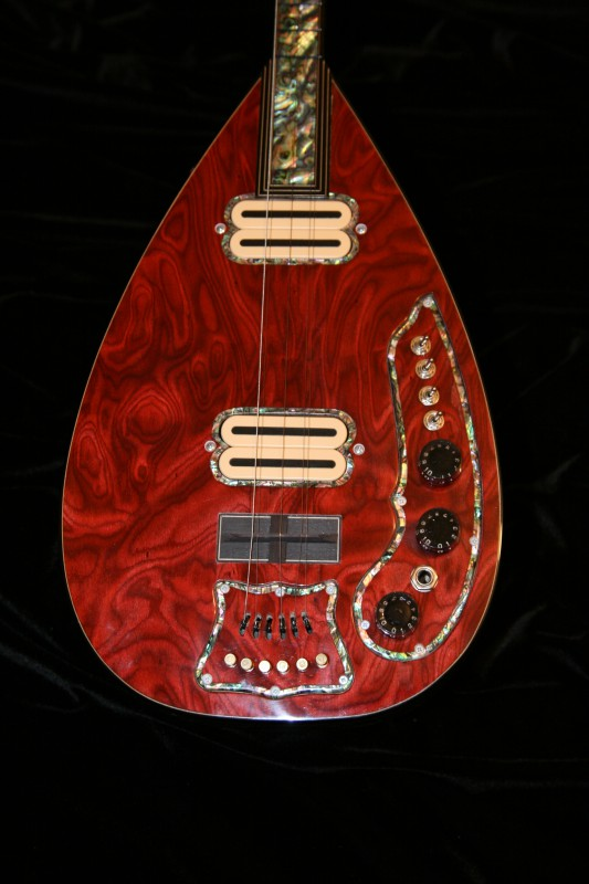 electric saz mother of pearl