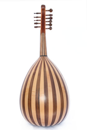 Professional turkish oud, maple + mahogany