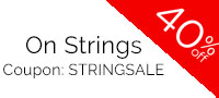 The sale is for strings from our entire catalog!