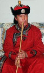 Mongolian flute player